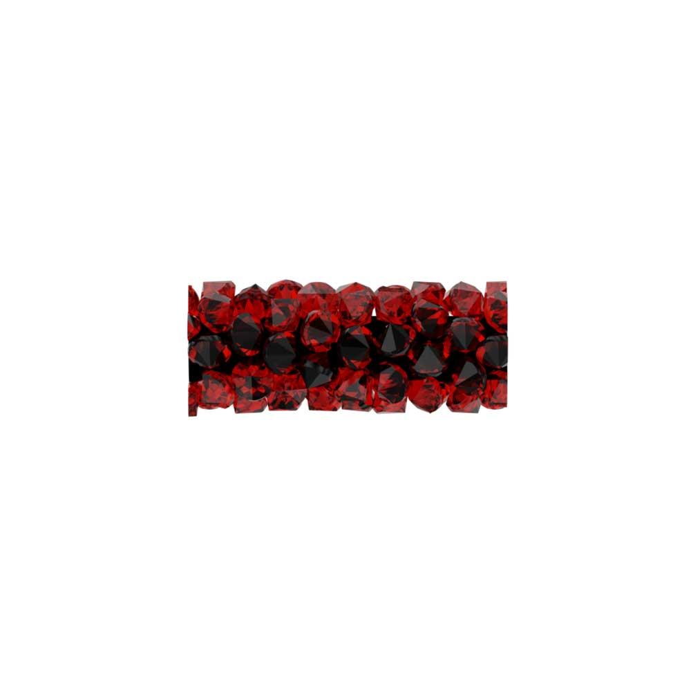 Swarovski Crystal, #5951 Fine Rocks Tube Bead  15mm, 1 Piece, Light Siam
