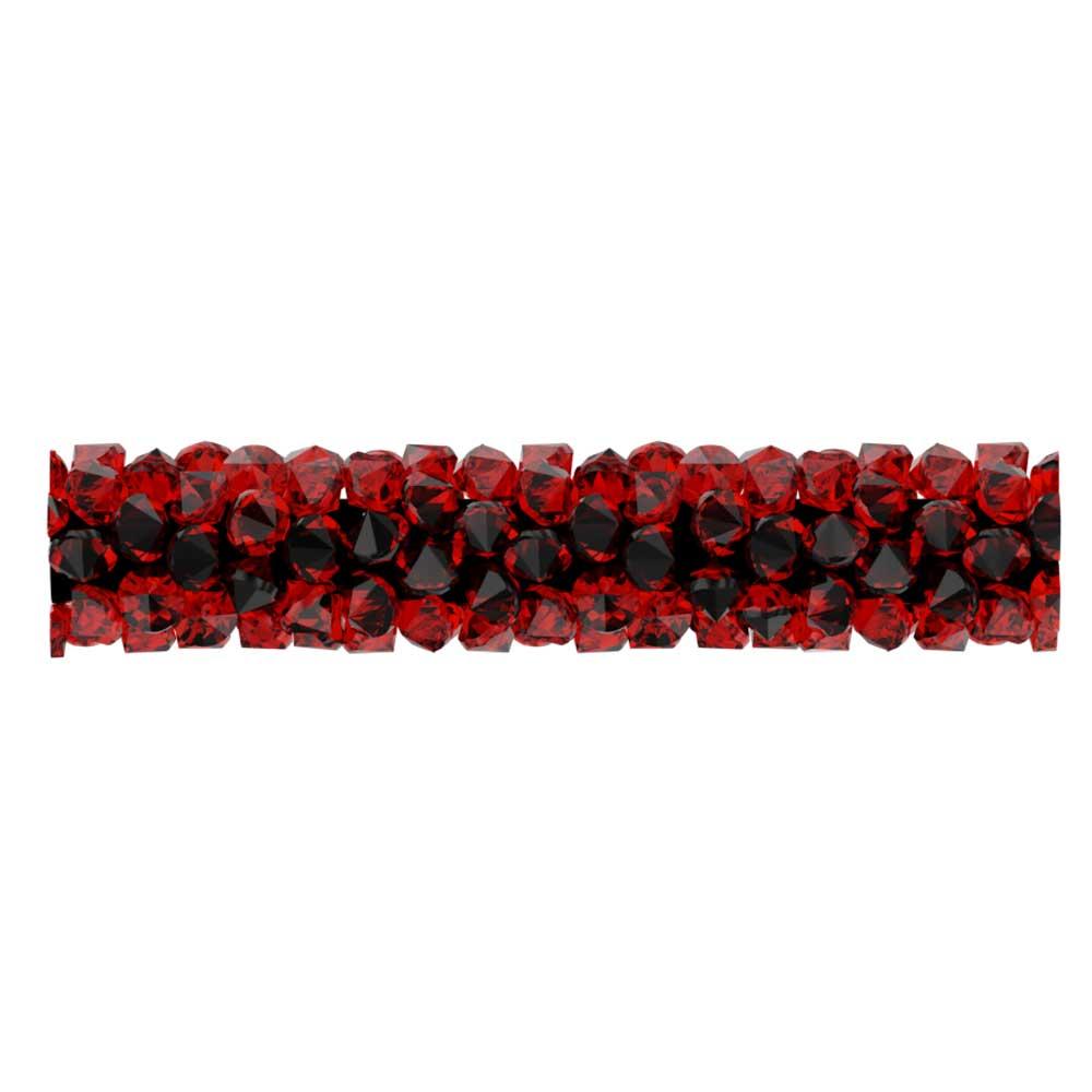 Swarovski Crystal, #5951 Fine Rocks Tube Bead  30mm, 1 Piece, Light Siam