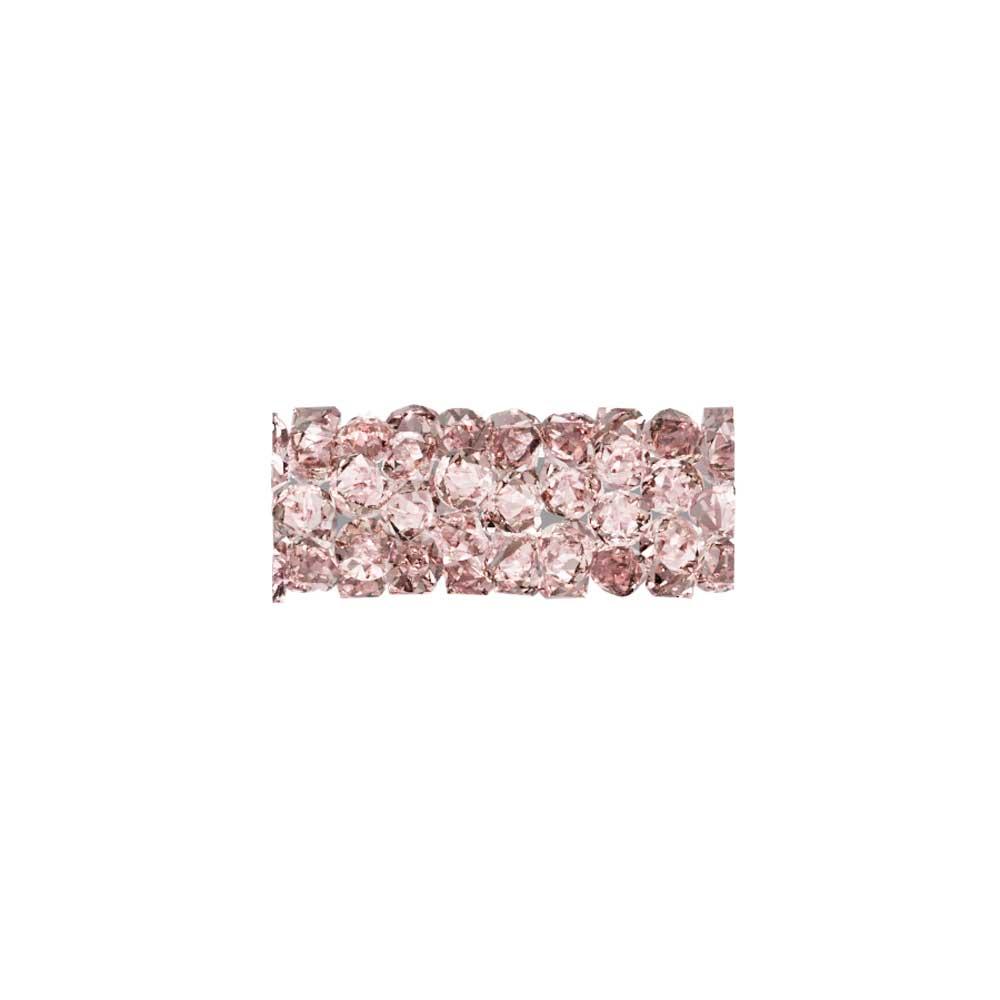 Swarovski Crystal, #5951 Fine Rocks Tube Bead  15mm, 1 Piece, Vintage Rose