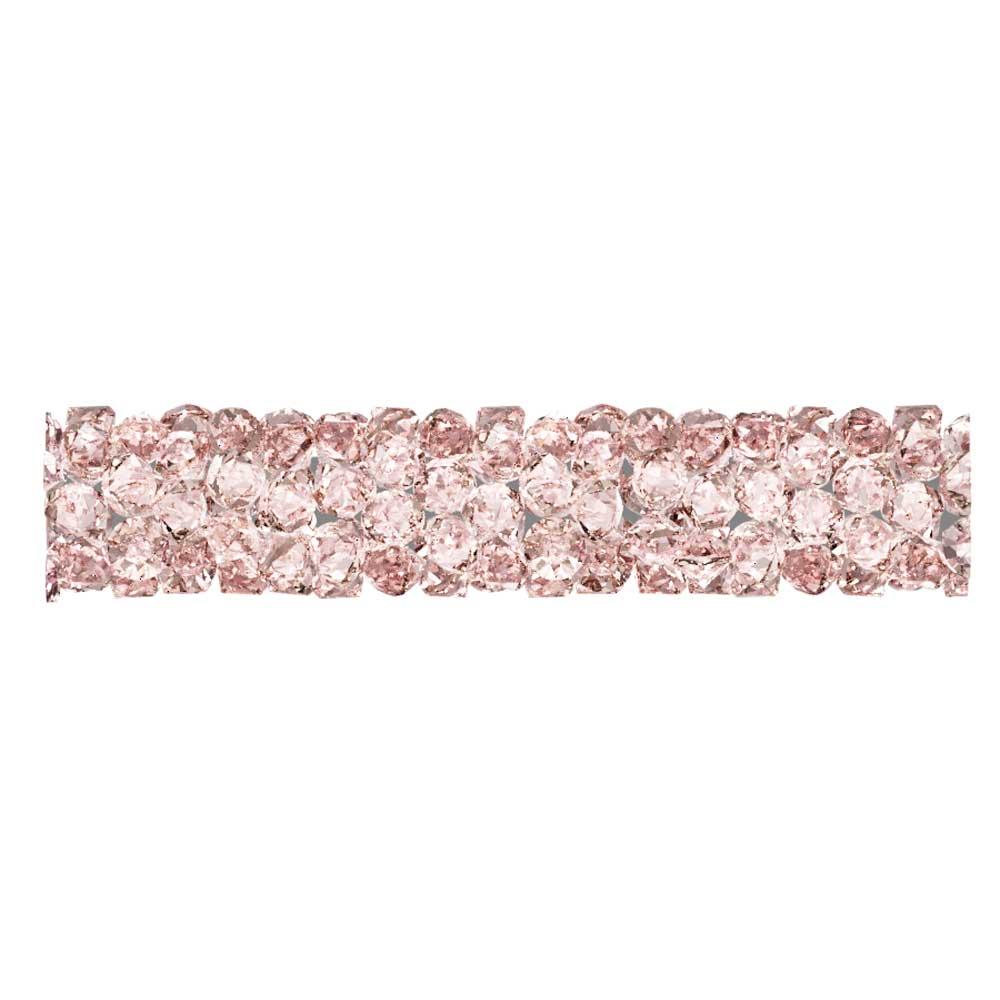 Swarovski Crystal, #5951 Fine Rocks Tube Bead  30mm, 1 Piece, Vintage Rose