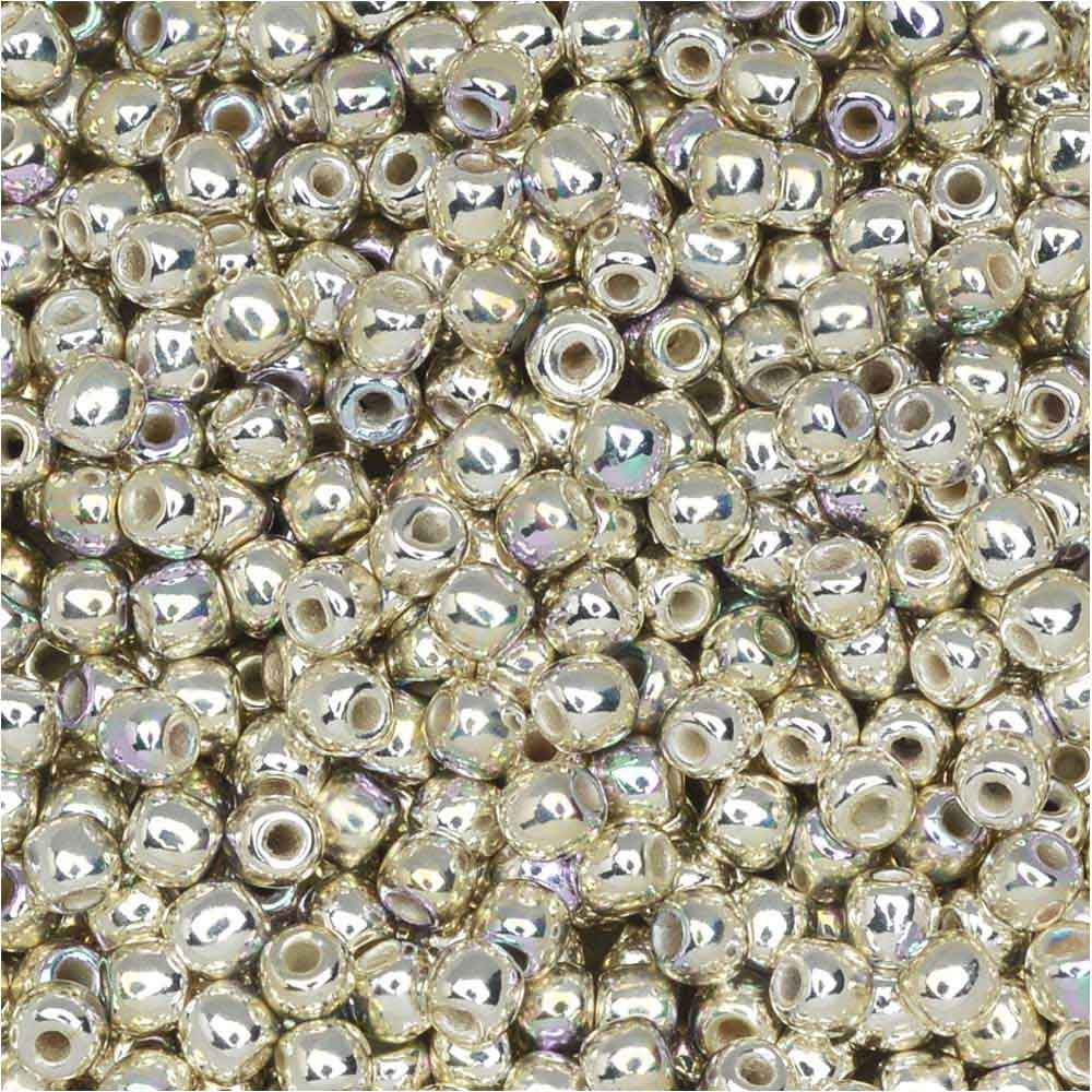 True2 Czech Glass, Round Druk Beads 2mm, 190-200 Pieces, Silver Plated AB