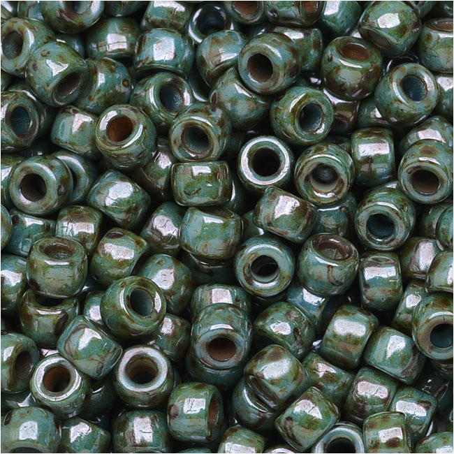 Czech Glass Matubo, 7/0 Seed Beads, 7.5 Gram Tube, Chalk Lazure Blue