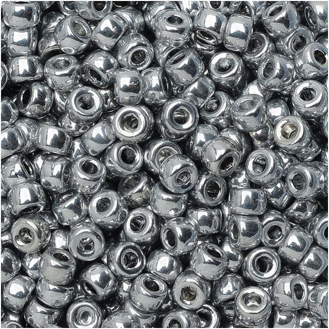 Czech Glass Matubo, 8/0 Seed Bead, 8 Gram Tube, Crystal Full Labrador