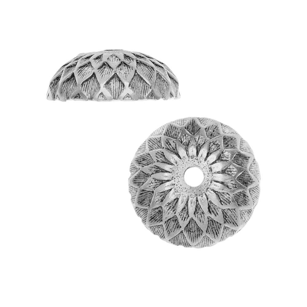 Nunn Design Bead Caps, Acorn 11.5mm, 2 Pieces, Antiqued Silver