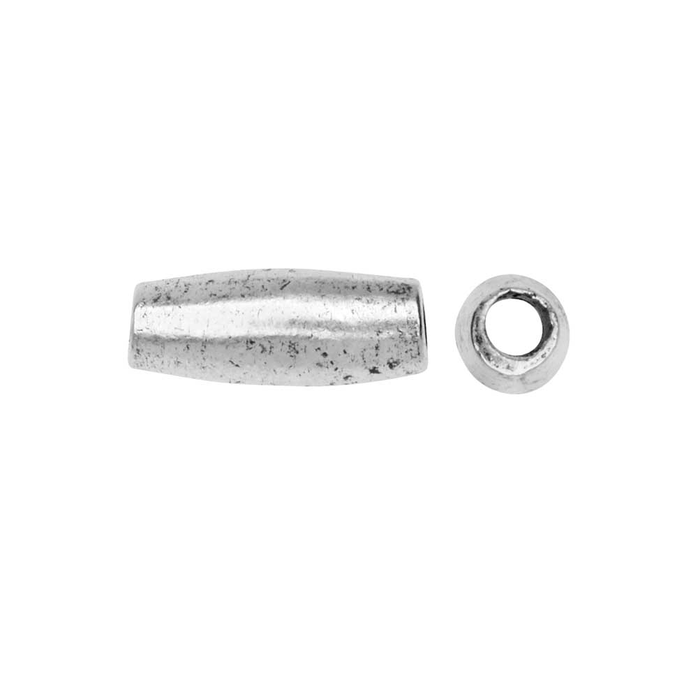 Metal Bead, Double Cone 4x11mm, Antiqued Silver 2 Pieces, by Nunn Design