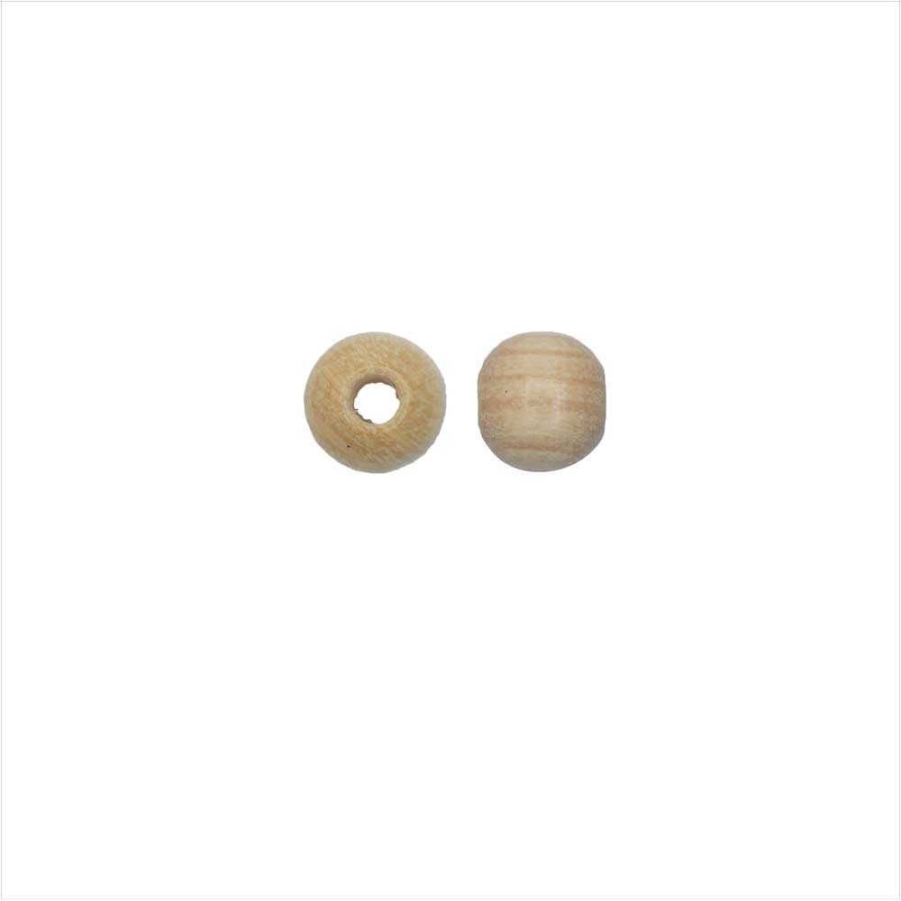 EuroWood Natural Wood Beads, Round 6mm Diameter, 200 Pieces, Natural