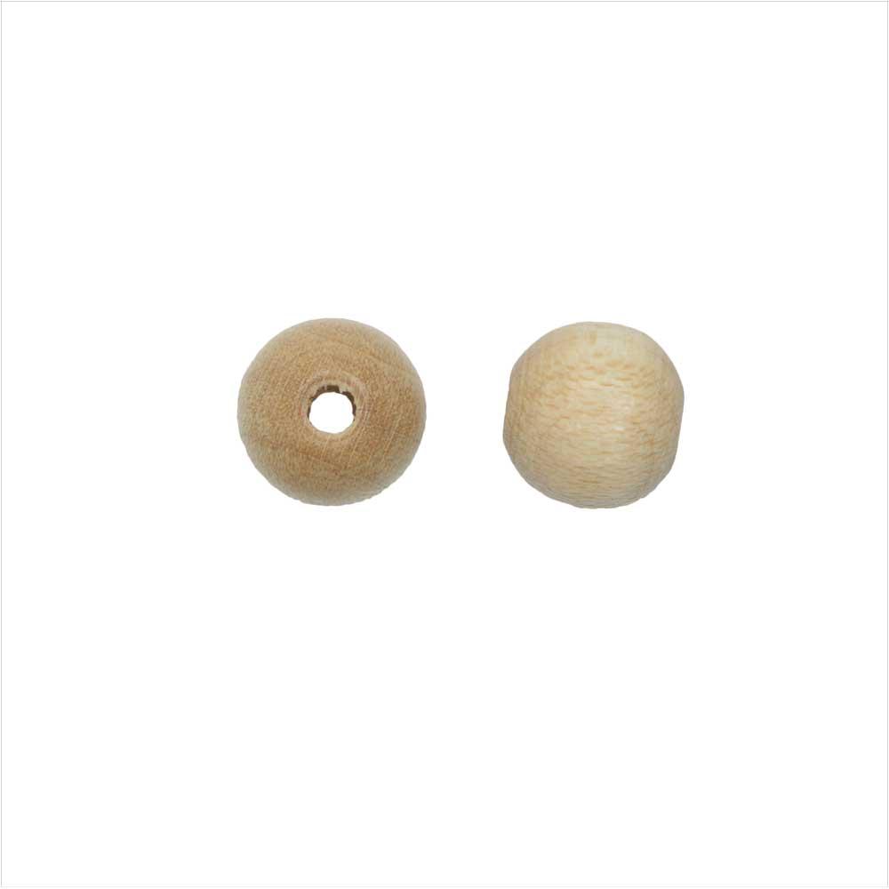 EuroWood Natural Wood Beads, Round 8mm Diameter, 100 Pieces, Natural