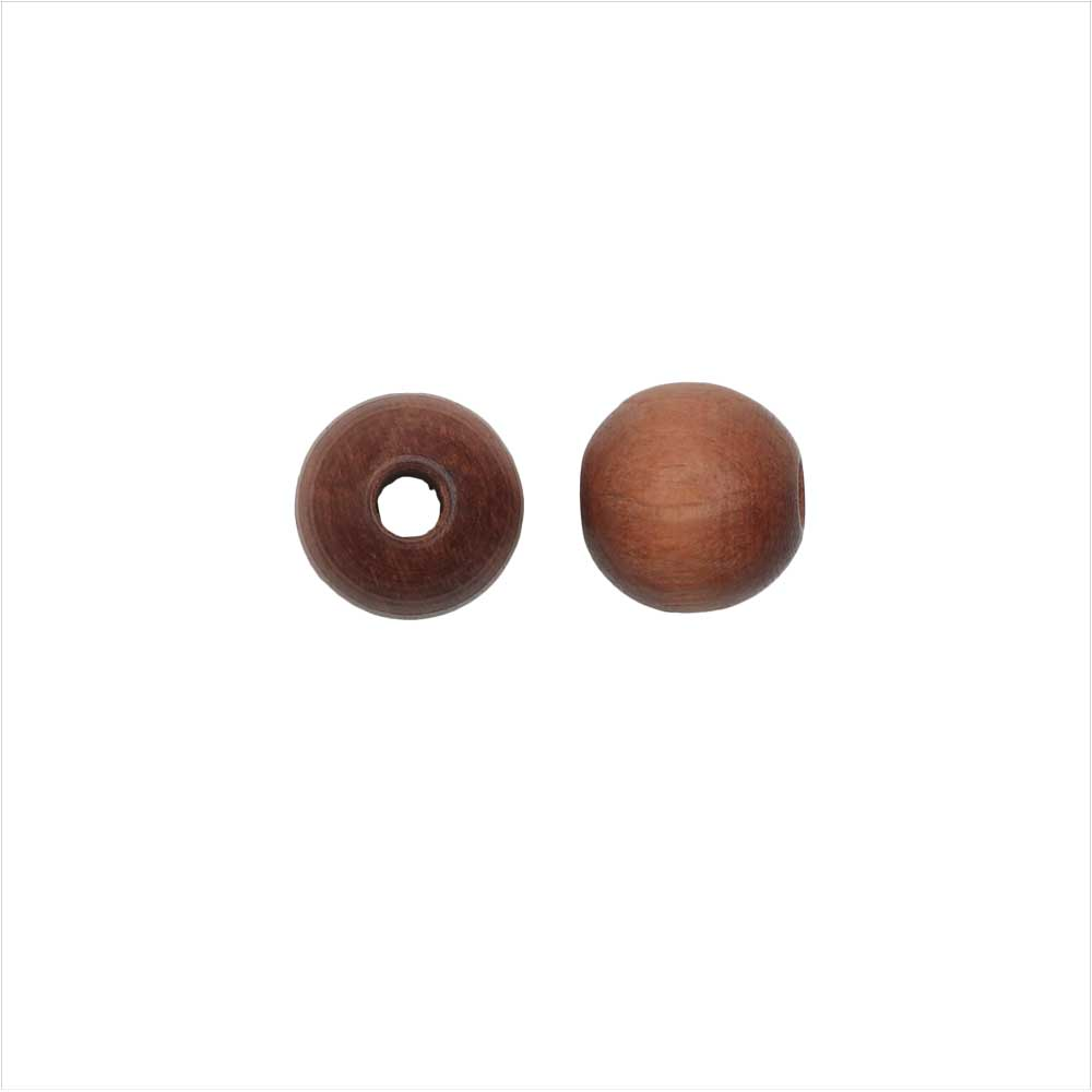 EuroWood Natural Wood Beads, Round 8mm Diameter, 100 Pieces, Light Brown