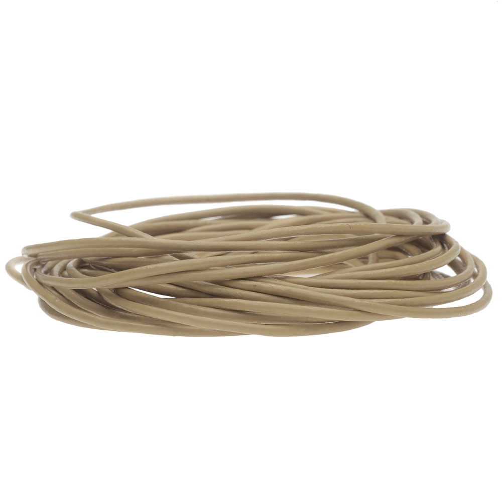 Genuine Leather Cord, Round 1.5mm,  By the Yard, Beach