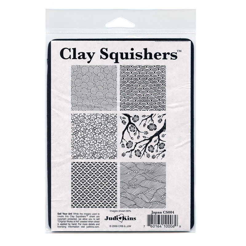 Judikins Clay Squisher, Texturing Plate Japan Theme 6 Styles, 1 Sheet