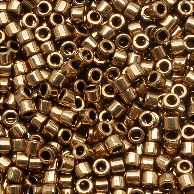 Miyuki Delica Seed Beads, 11/0 Size, 7.2 Grams, Metallic Bronze DB022