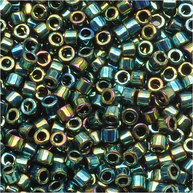Miyuki Delica Seed Beads, 11/0 Size, 7.2 Grams, Metallic Teal Iris DB027