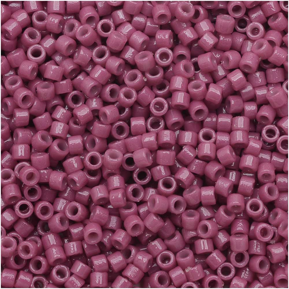 Miyuki Delica Seed Beads, 11/0 Size, 7.2 Grams, Duracoat Opaque Pansy Purple DB2118