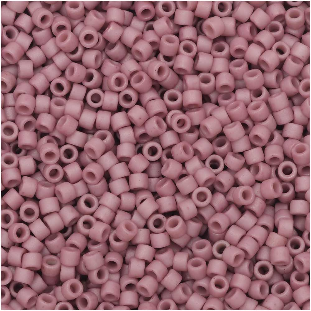 Miyuki Delica Seed Beads, 11/0 Size, 7.2 Gram Tube, #2294 Frosted Opaque Glazed Mauve