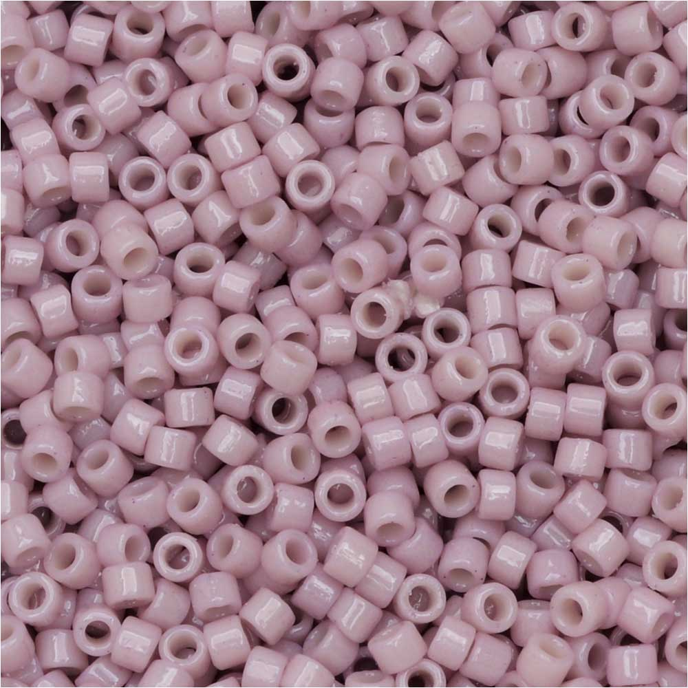 Miyuki Delica Seed Beads, 11/0 Size, #DB2361 Duracoat Soft Pink, 7.2 Grams