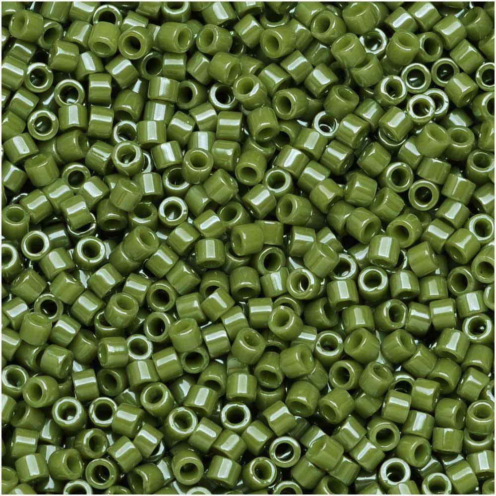 Miyuki Delica Seed Beads, 11/0 Size, 7.2 Grams, Opaque Cactus DB263