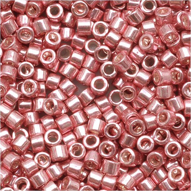 Miyuki Delica Seed Beads, 11/0 Size, 7.2 Grams, Galvanized Pink Blush DB435