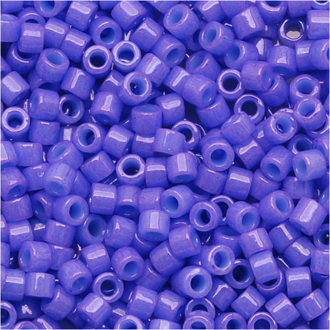 Miyuki Delica Seed Beads, 11/0 Size, 7.2 Grams, Dyed Opaque Purple DB661