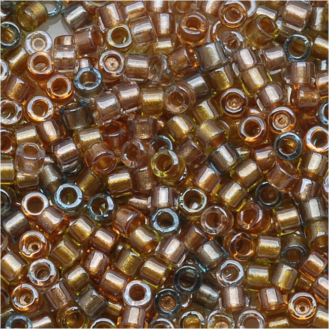 Miyuki Delica Seed Beads, 11/0 Size, 7.2 Grams, Lined Metallic Mix DB981