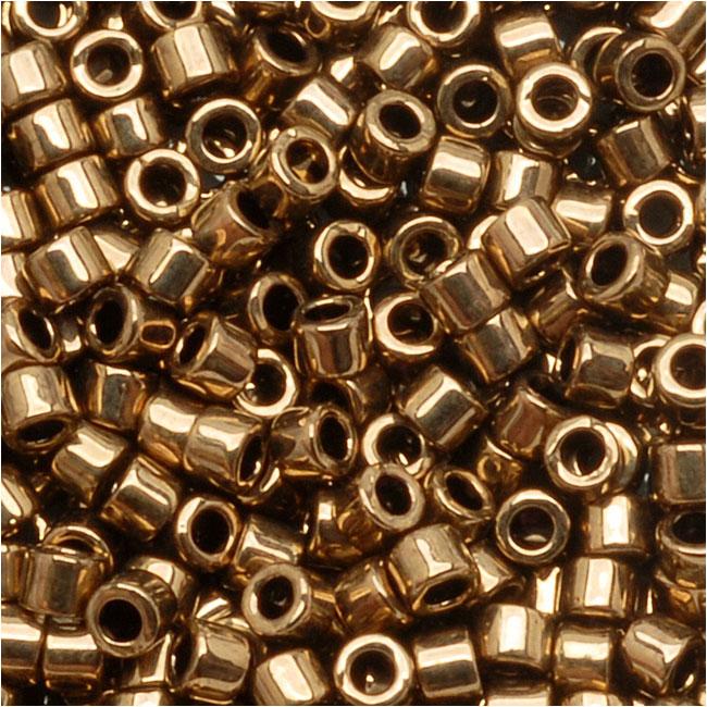 Miyuki Delica Seed Beads, 10/0 Size, 8 Grams, Metallic Bronze DBM0022