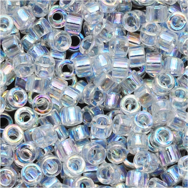 Miyuki Delica Seed Beads, 10/0 Size, 8 Grams, Crystal AB DBM0051