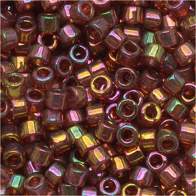 Miyuki Delica Seed Beads, 10/0 Size, 8 Grams, Red Gold Luster DBM0103