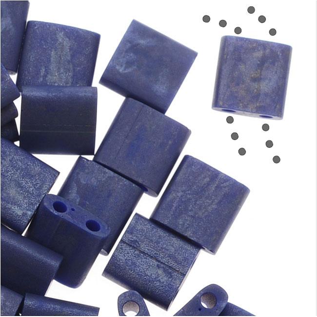 Miyuki Tila 2 Hole Square Beads 5mm - Matte Cobalt Blue 7.2 Grams