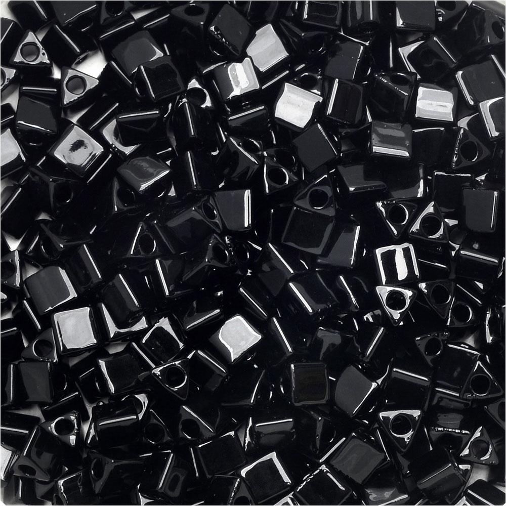 Miyuki, Sharp Triangle Beads 8/0, 7.2 Grams, Black