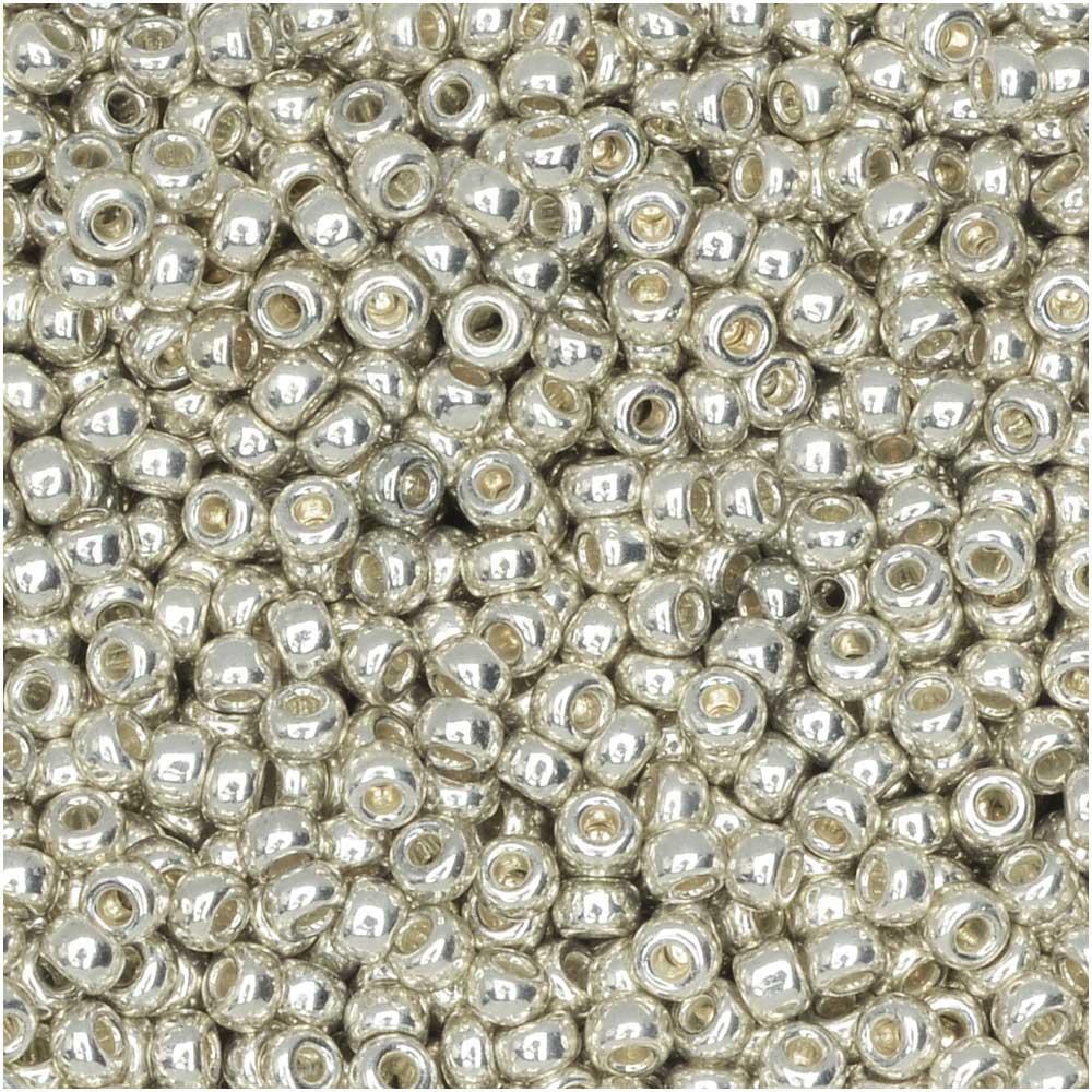 Miyuki Round Seed Beads, 11/0 Size, 8.5 Gram Tube, #1051 Galvanized Silver (Plated)