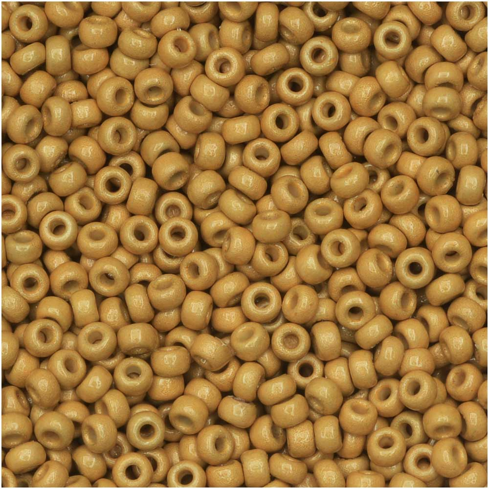 Miyuki Round Seed Beads, 11/0 Size, 8.5 Gram Tube, #4202F Duracoat Galvanized Matte Gold