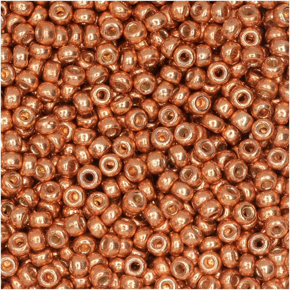 Miyuki Round Seed Beads, 11/0, 8.5 Gram Tube, #4206 Duracoat Galvanized Muscat (Copper)