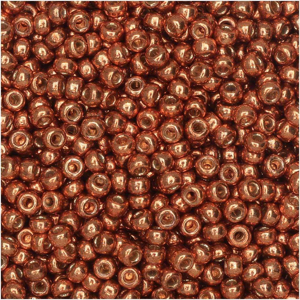 Miyuki Round Seed Beads, 11/0, 8.5 Gram Tube, #4207 Duracoat Galvanized Pink Blush (Copper)