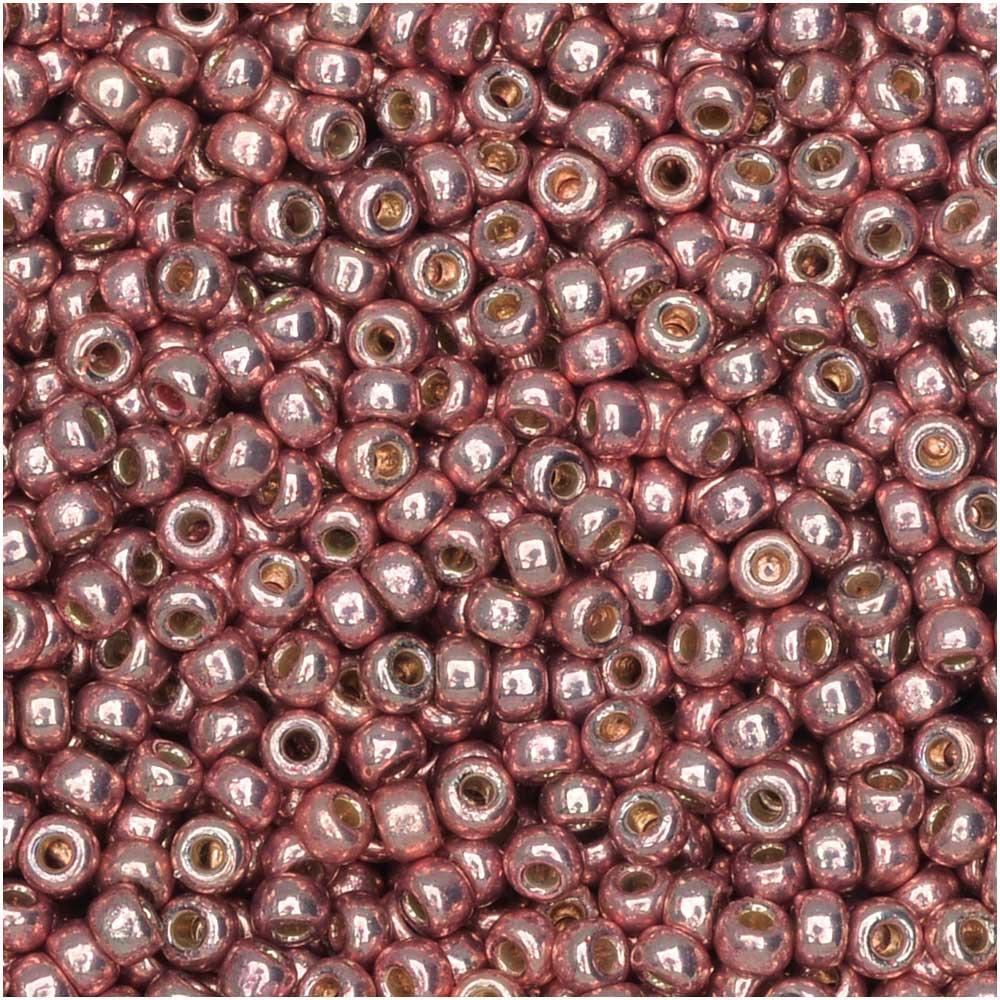 Miyuki Round Seed Beads, 11/0, 8.5 Gram Tube, #4209 Duracoat Galvanized Dark Coral (Pink)