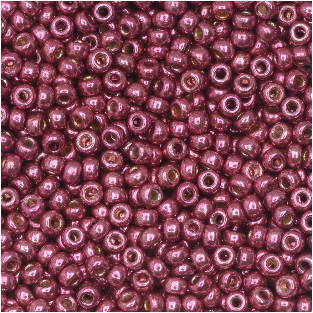 Miyuki Round Seed Beads, 11/0 Size, 8.5 Gram Tube, #4219 Duracoat Galvanized Magenta