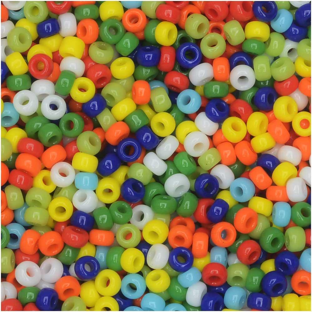 Miyuki Round Seed Beads, 11/0 Size, 8.5 Gram Tube, #MIX37 Opaque Rainbow Mix