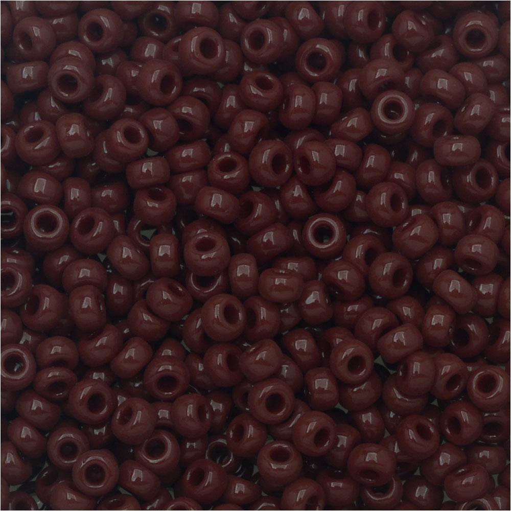 Miyuki Round Seed Beads, 11/0 Size, 8.5 Gram Tube, #419 Opaque Chocolate Brown