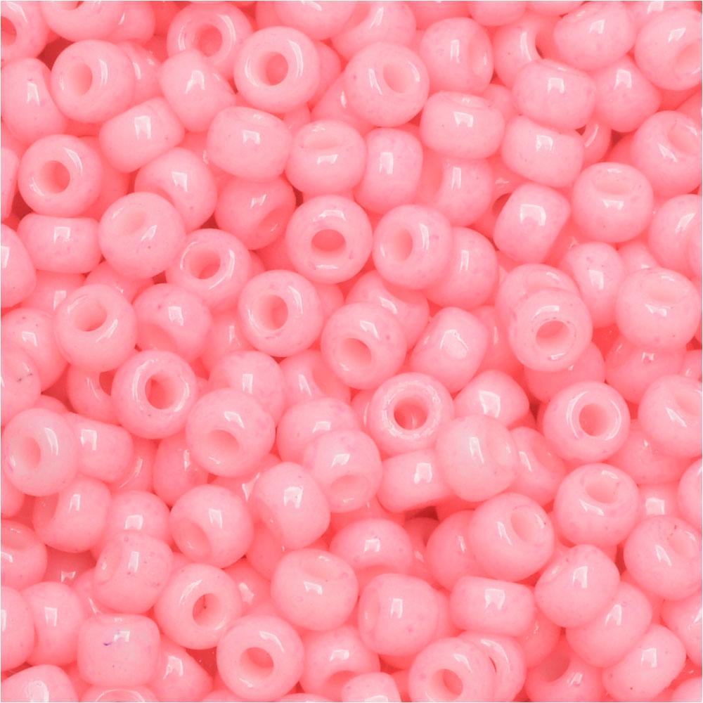 Miyuki Round Seed Beads, 8/0, 22 Gram Tube, #94466 Duracoat Opaque Dyed Ballerina