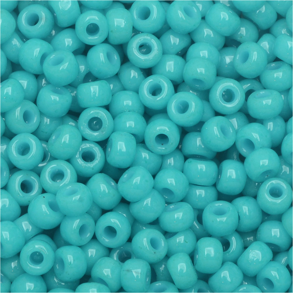 Miyuki Round Seed Beads, 8/0, 22 Gram Tube, #94480 Duracoat Opaque Dyed Ocean