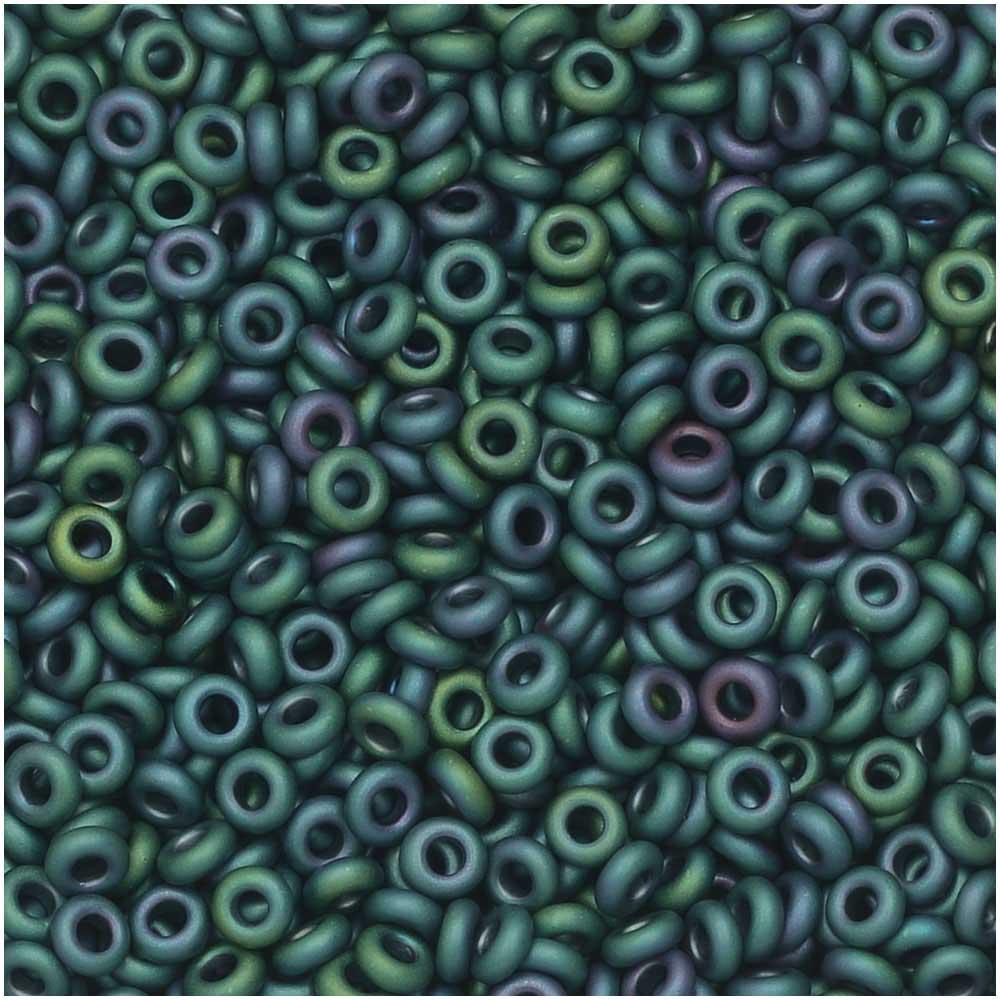 Toho Demi Round Seed Beads, Thin 11/0 (2.2mm) Size, 7.8 Grams, 706 Matte Iris Teal