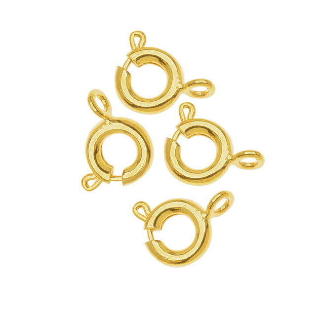 22K Gold Plated Spring Ring Clasps 6mm (50)