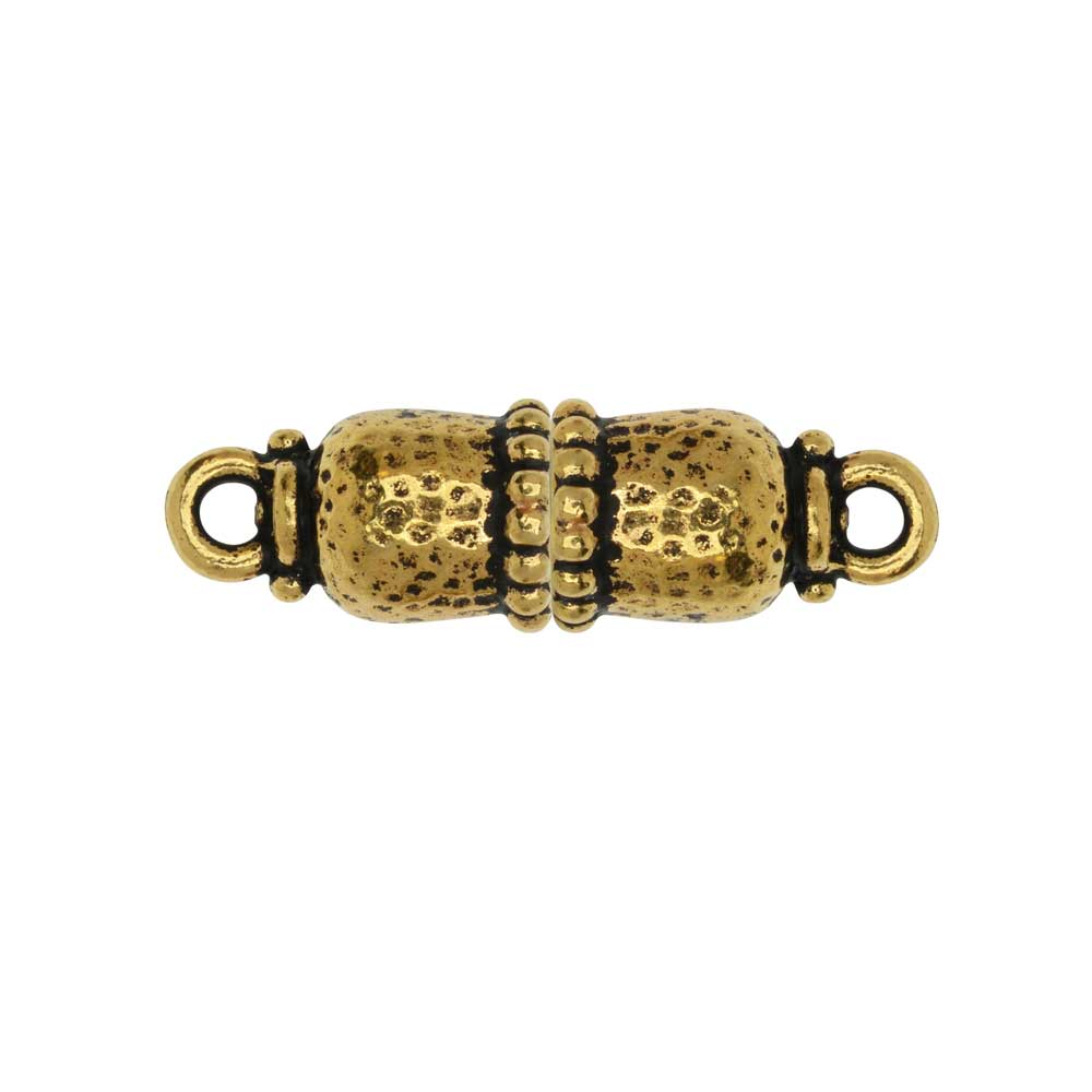 Magnetic Clasp, Palace Capsule 28x8.5mm, Antiqued Gold, 1 Set, By TierraCast