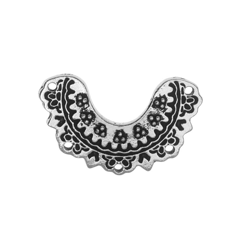 TierraCast Connector Link, Marrakesh Crescent 14.5x23mm, 1 Piece, Antiqued Silver Plated