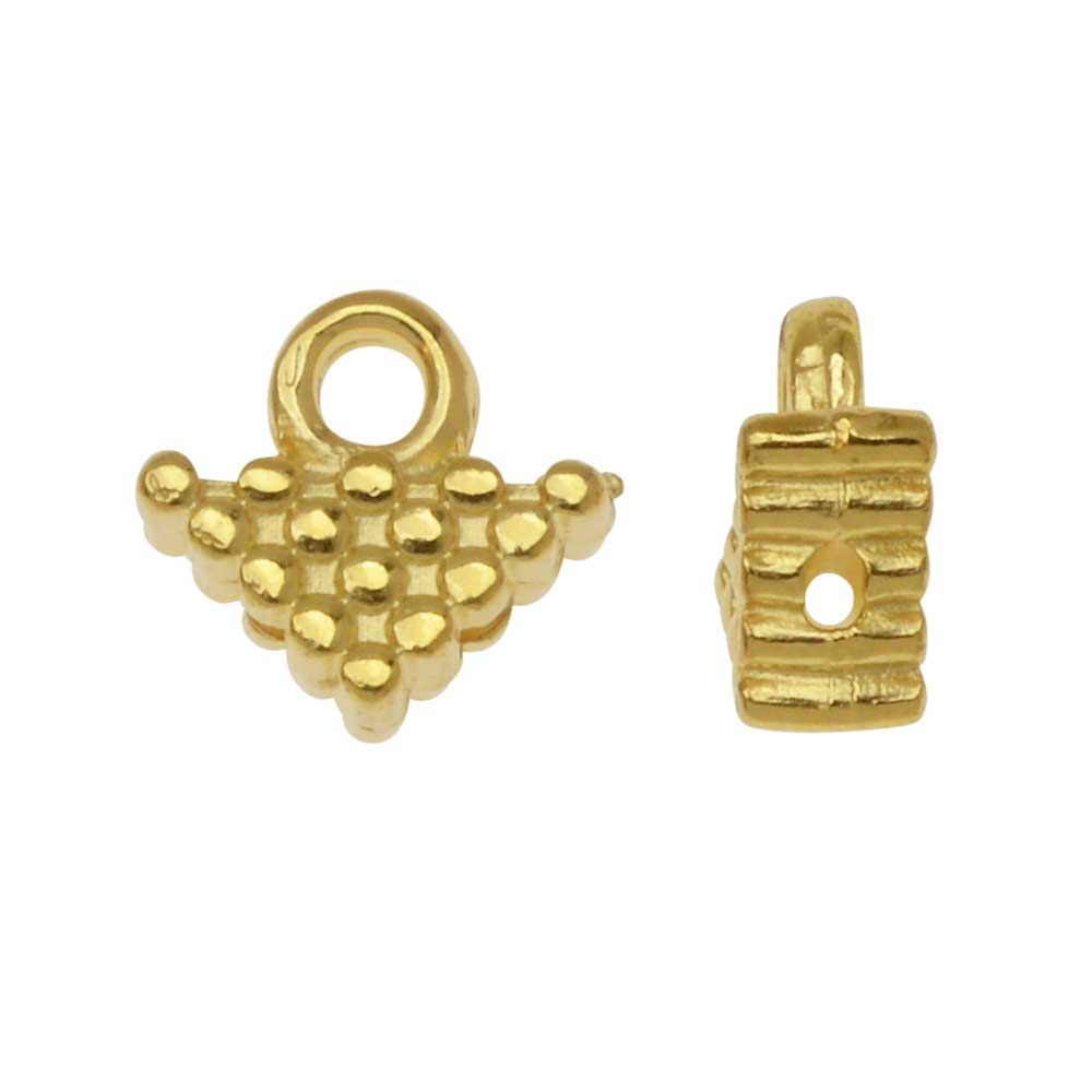 Final Sale - Cymbal Bead Endings fit Silky Beads, KalIVia, 7mm, 4 Pieces, 24kt Gold Plated