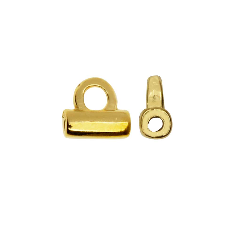 Cymbal Bead Endings fit Tila Beads, Soros, 4.5mm, 2 Pieces, 24kt Gold Plated