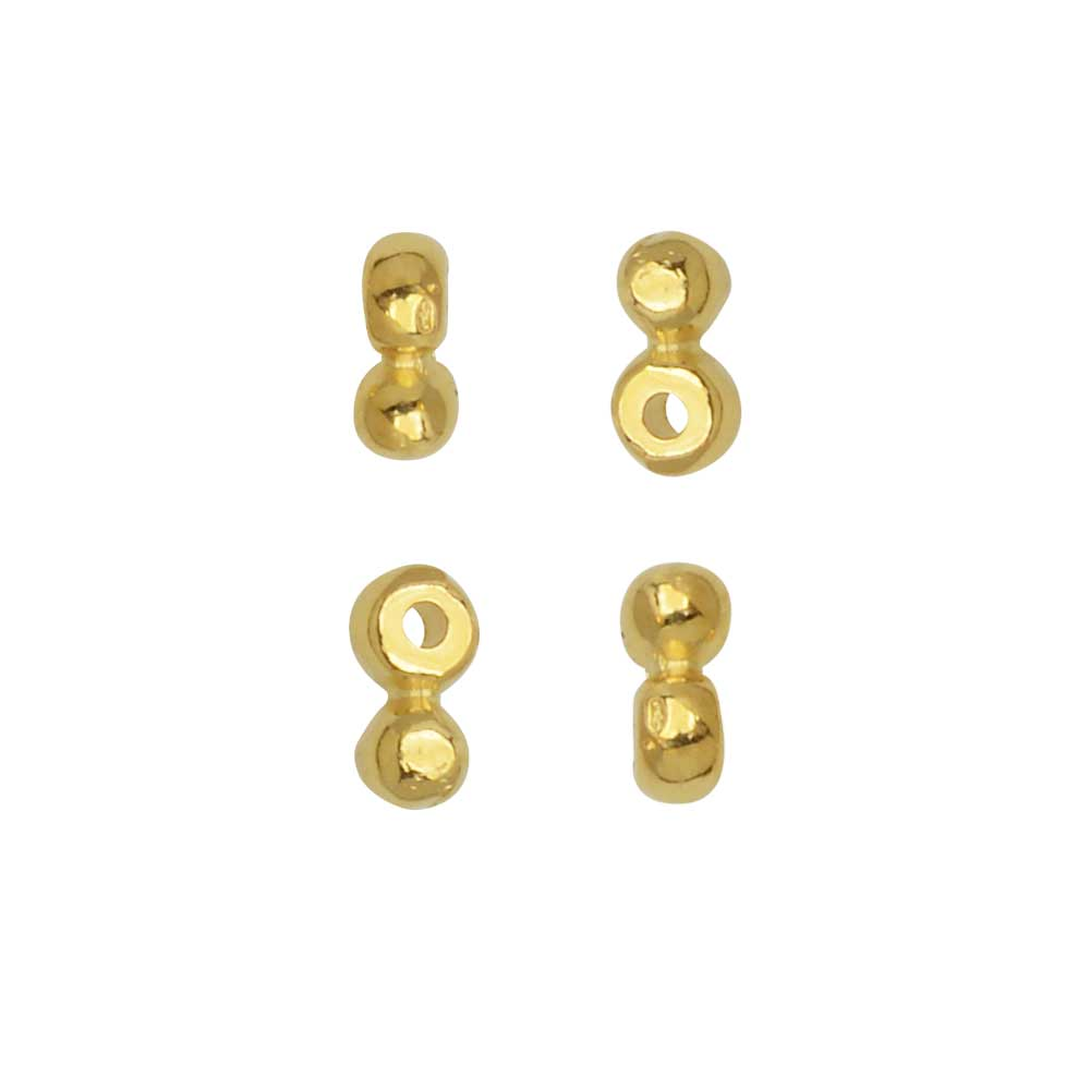 Cymbal Beads Substitute for 8/0 Delica & Round Seed Beads, Elasa, 5x2mm, 4 Pieces, 24k Gold Plated