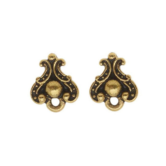 TierraCast 22K Gold Plated Pewter Stud Post Earrings