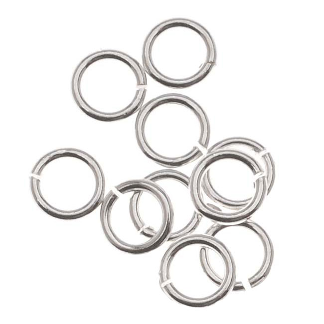 Sterling Silver Open Jump Rings 4mm 22 Gauge (20)
