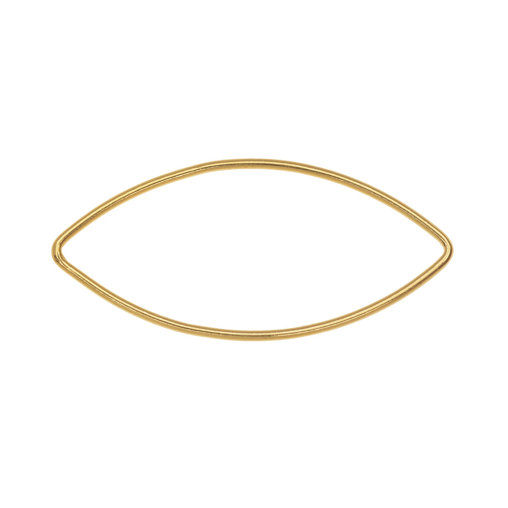Final Sale - Marquise Link Component, Closed 18 Gauge Wire 36x16mm, 1 Piece, 14K Gold Filled