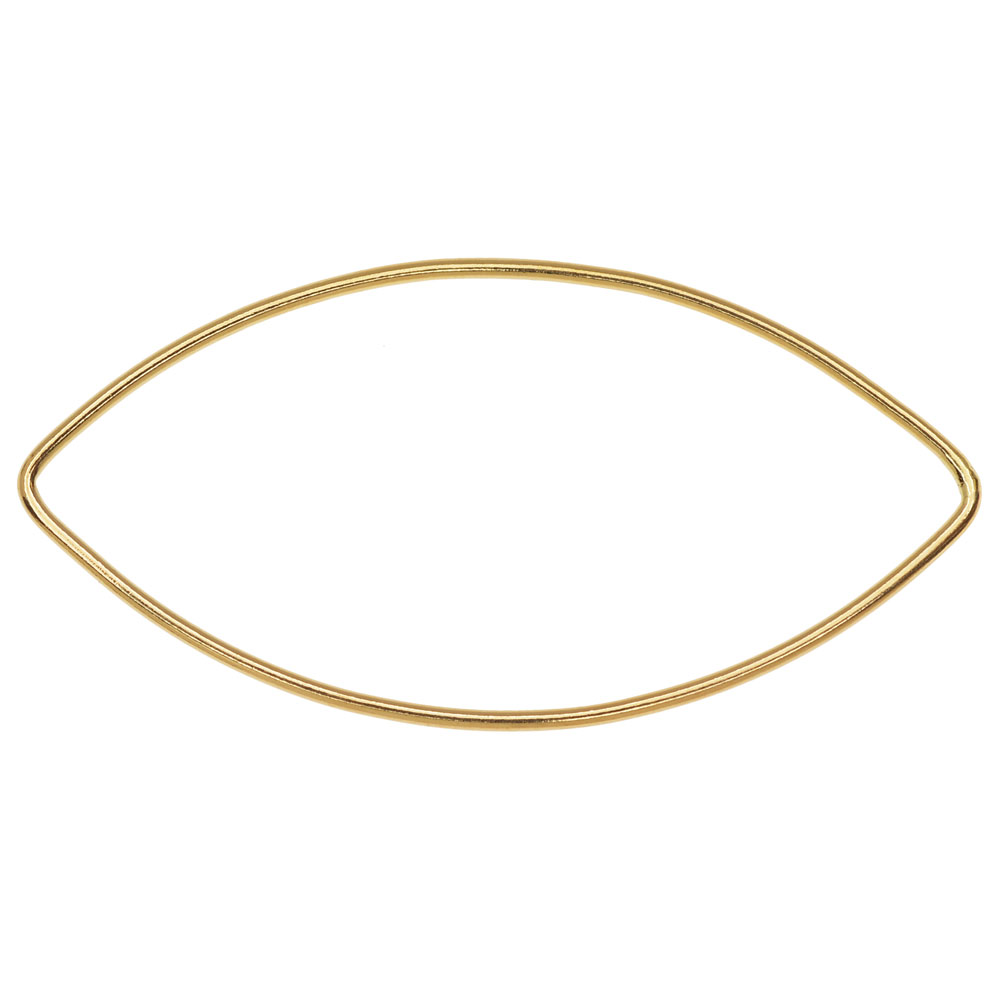 Marquise Link Component, Closed 18 Gauge Wire 45x20mm, 1 Piece, 14K Gold Filled