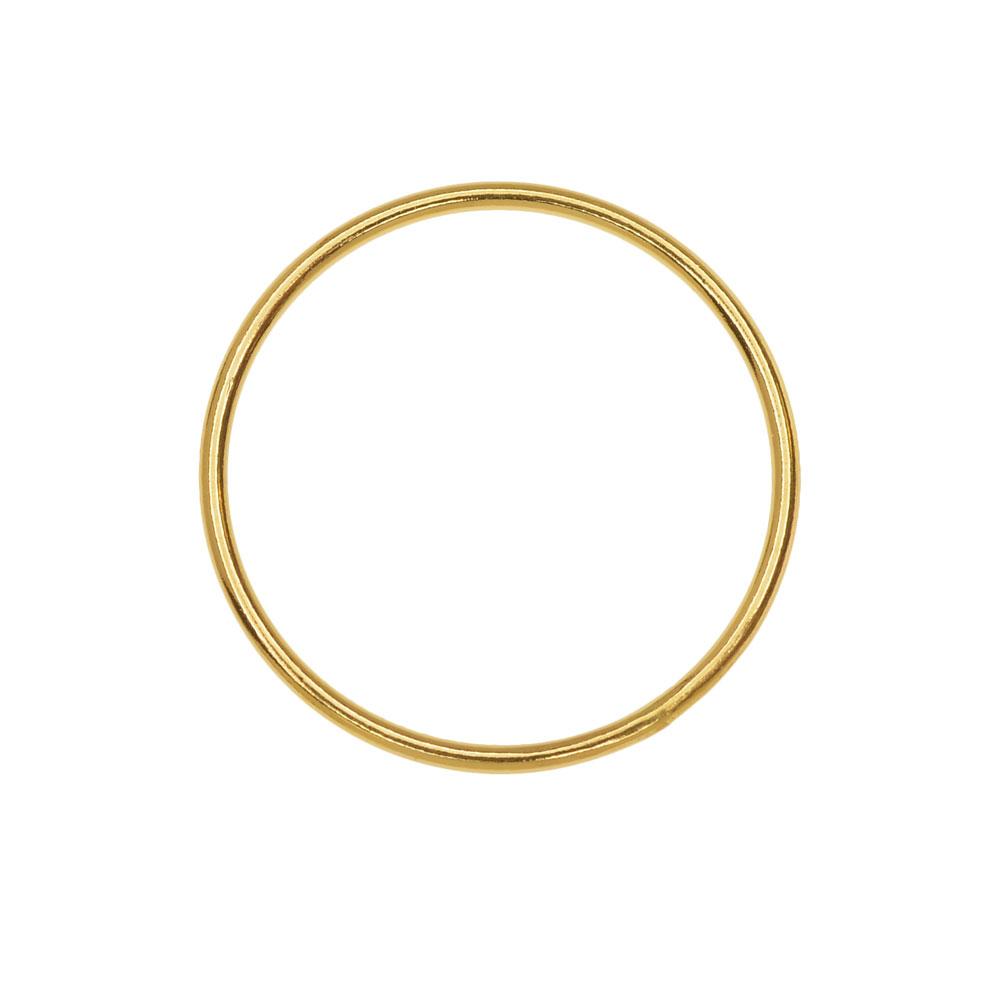 Round Link Component, Closed 18 Gauge Wire 20mm Diameter, 1 Piece, 14K Gold Filled